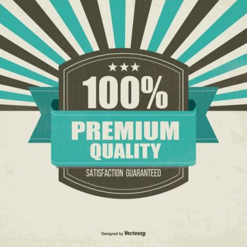 Free vector Retro Promotional Premium Quality Background #14910