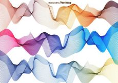 Free vector Vector Set Of Abstract Waves #15682