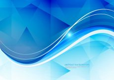 Free vector Wave On Polygon Background #17850