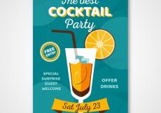 Free vector Vintage cocktail party poster #18487