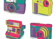 Free vector Vintage colorful camera collection #18017