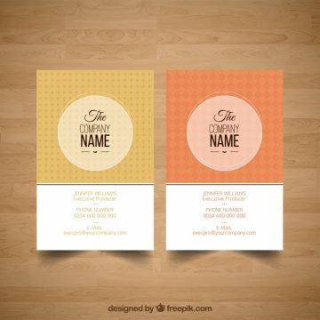 Free vector Vintage corporate card #17133