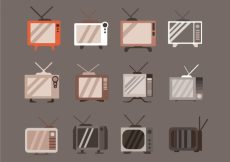 Free vector Vintage tv collection #15921