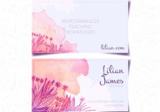 Free vector Watercolor business card with sketches of flowers #16111