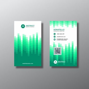 Free vector White and green business card #17272