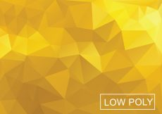Free vector Yellow Poly Vector Background #12530