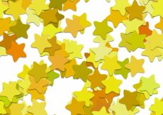 Free vector Yellow stars pattern background #17027