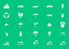 Free vector Holiday, Tourism and Travel Icon Vectors #20764