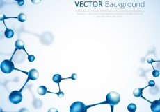 Free vector Abstract background of blue molecules #22197
