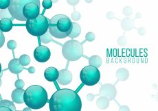 Free vector Abstract background of green molecules #22175