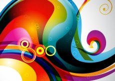 Free vector Abstract background with colorful modern shapes #21974