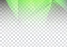 Free vector Abstract bright green polygonal design on transparent background #20020