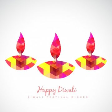 Free vector Abstract candle design for diwali #21950
