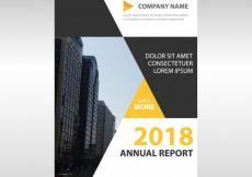 Free vector Abstract corporate annual report design #21360