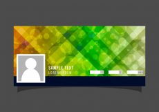 Free vector Abstract facebook cover with bokeh effect #20191