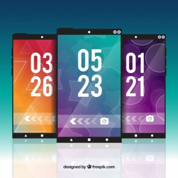 Free vector Abstract mobile wallpapers pack #20285