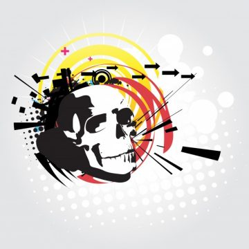 Free vector Abstract skull background #22157