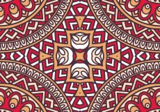 Free vector Abstract vector tribal ethnic background seamless pattern #20002