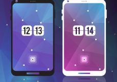 Free vector Abstract wallpapers for mobile in purple and blue tones #20279