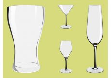Free vector Alcohol Glasses #20396