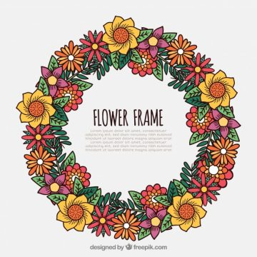 Free vector Amazing floral frame with beautiful flowers #23169