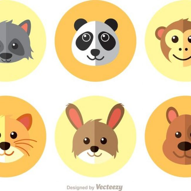 Free vector Animals Flat Icons Vector #22126