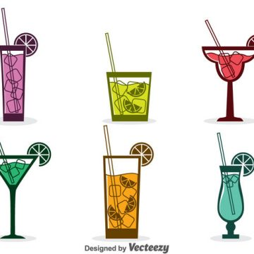 Free vector Assorted Cocktail Icons Vector #21921