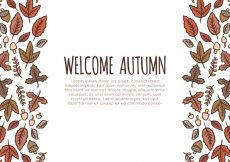 Free vector Autumn background with hand drawn elements #22563