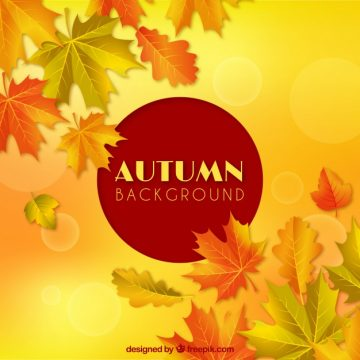Free vector Autumnal compostion with realistic style #22649