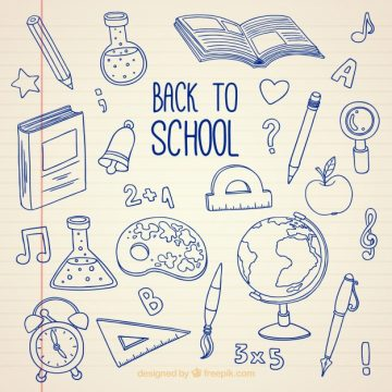 Free vector Back to school, hand drawn bottom #21514