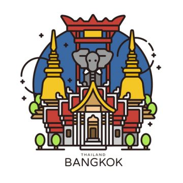 Free vector Bangkok Landmark Vector Illustration #22828