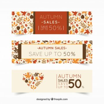 Free vector Banners discount, autumn #21682