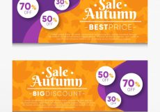Free vector Banners sales for autumn #21672