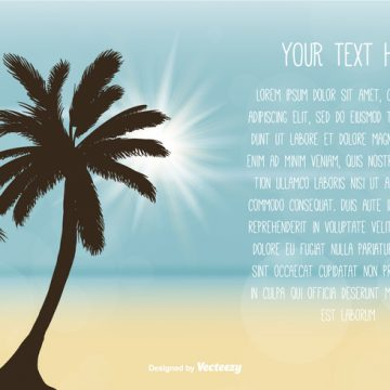Free vector Beach Scene Text Template #20768