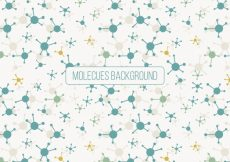 Free vector Beautiful background of molecules in flat design #22211