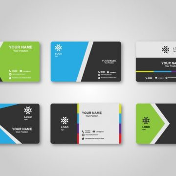 Free vector Bright Blank Business Card Design #22336