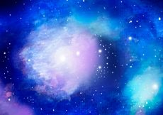 Free vector Bright blue watercolor galaxy background #19304