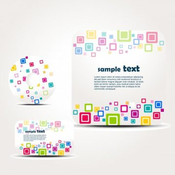 Free vector Brochure set with colorful squares #22149