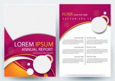 Free vector Business brochure template with Magenta Round shape #20663