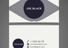Free vector Business card Vintage decorative elements Hand drawn background #20014