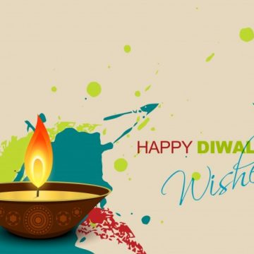 Free vector Candle design for diwali paint style #21958