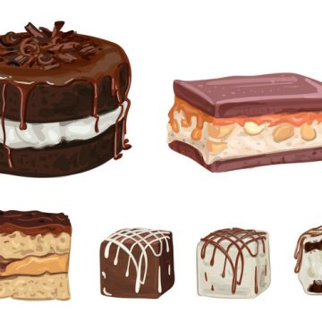 Free vector Chocolate Cakes and Truffles Vectors #20280