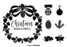 Free vector Christmas Vector Design Elements #22508