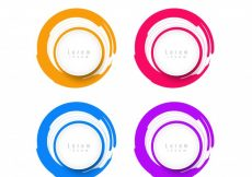 Free vector Circular colorful design elements with text space #20227