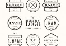 Free vector Classic pack of vintage restaurant logos #19015