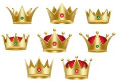 Free vector Classic Queen Crown Collection #22534
