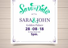 Free vector Classic wedding invitation with frame #22371