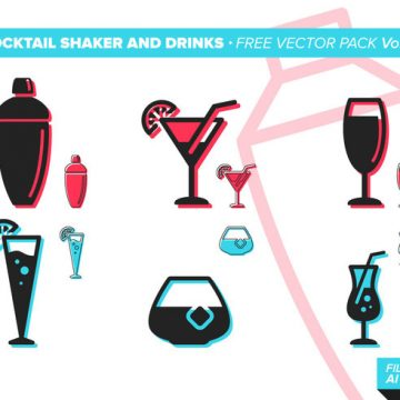 Free vector Cocktail Shaker And Drinks Free Vector Pack Vol. 2 #22884