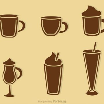 Free vector Coffee Drink Silhouette Vectors #22982