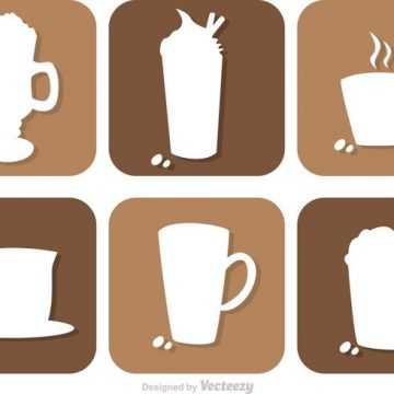 Free vector Coffee Drink Silhouette Vectors #22958